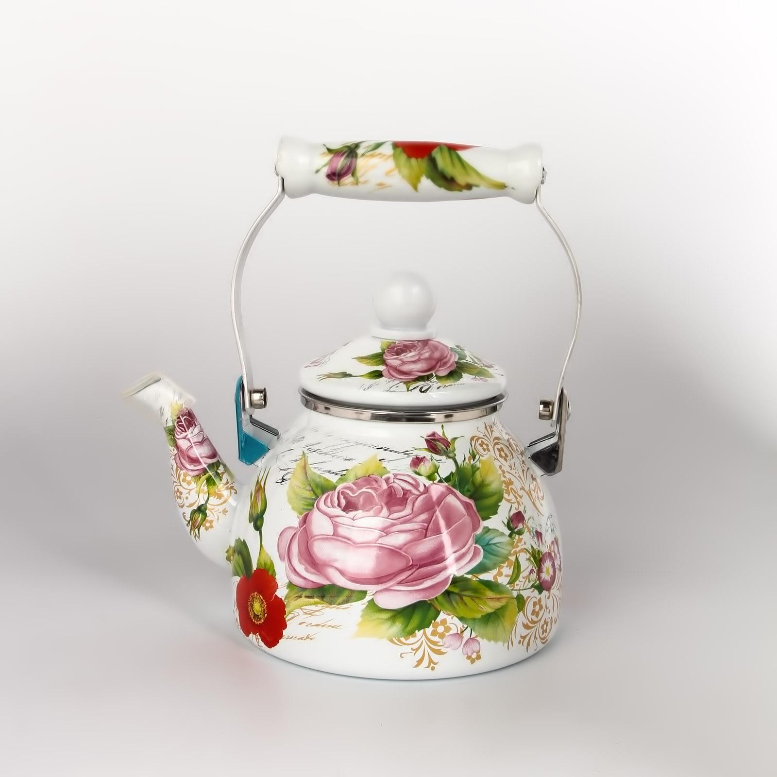Эмалированный чайник «Магическая роза»
