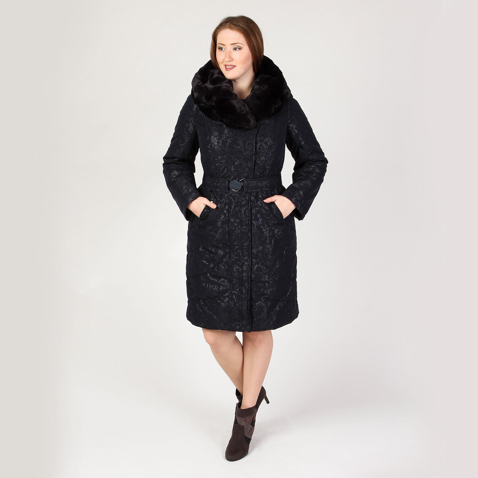Пальто с оторочкой из меха