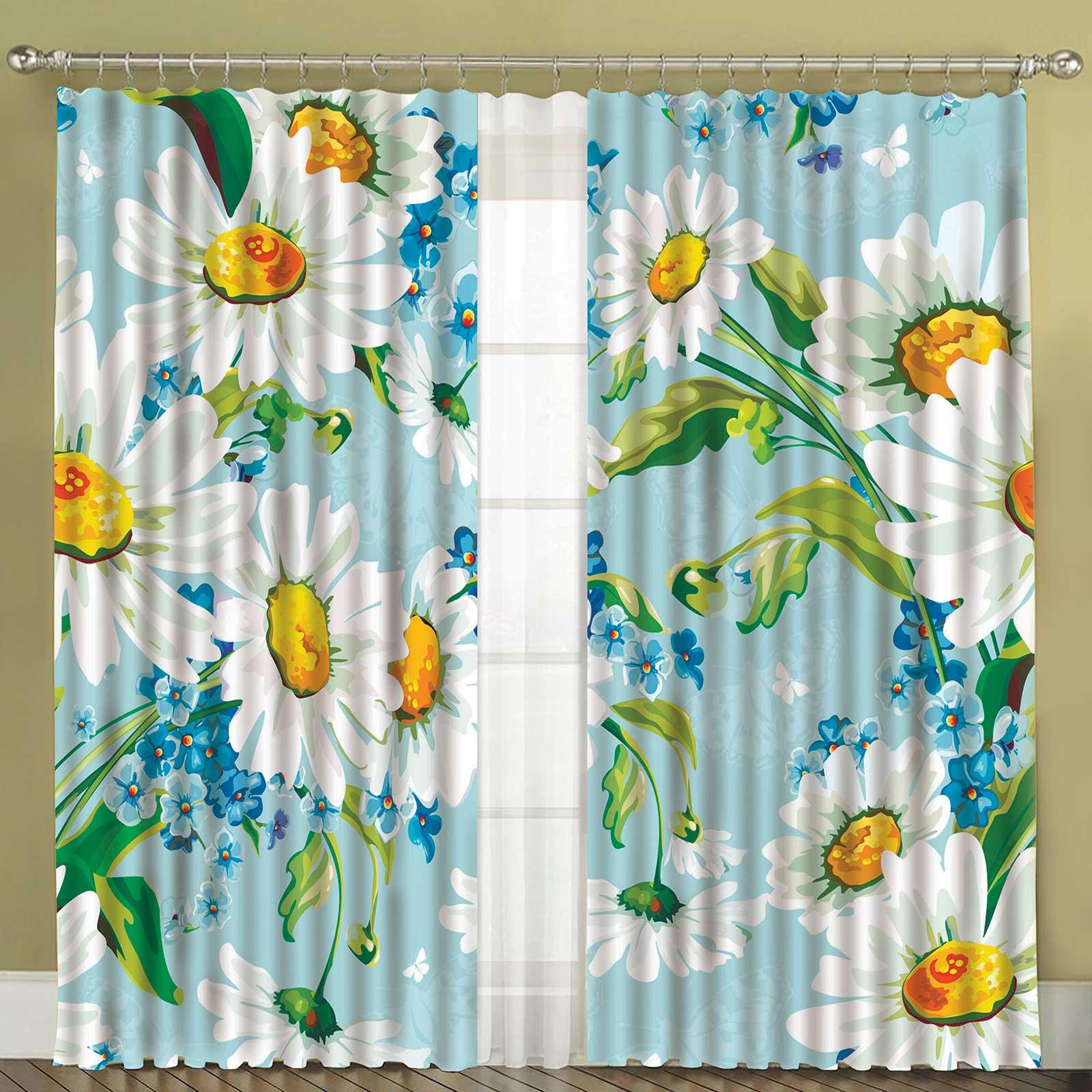 Комплект штор + тюль «Ромашковый сад»