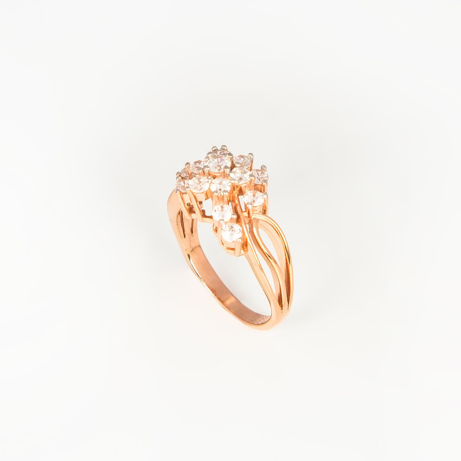 Серебряное кольцо «Цветочная радость»