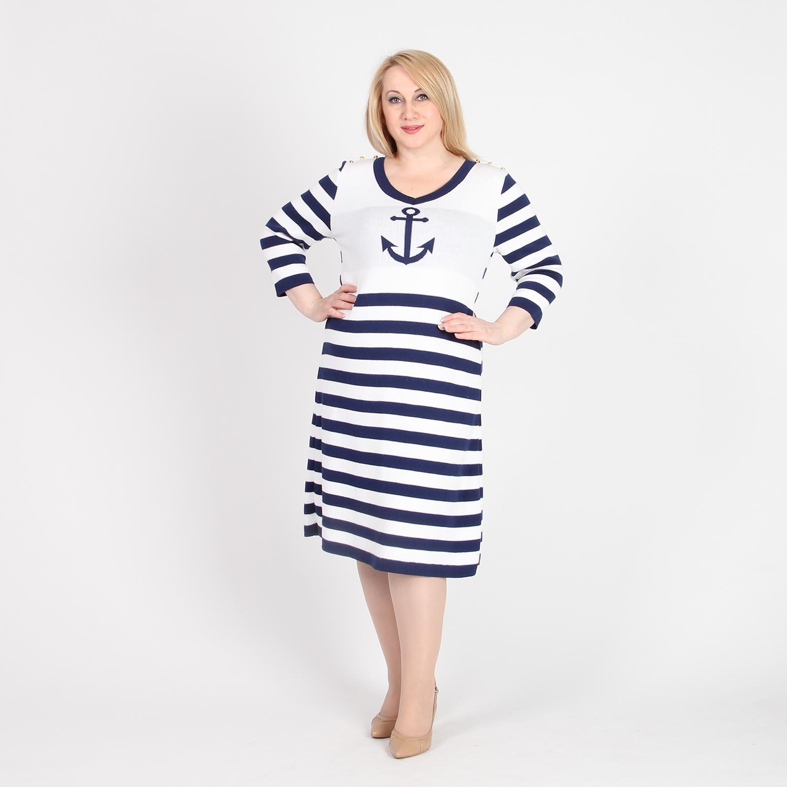Платье с дизайнерским морским принтом