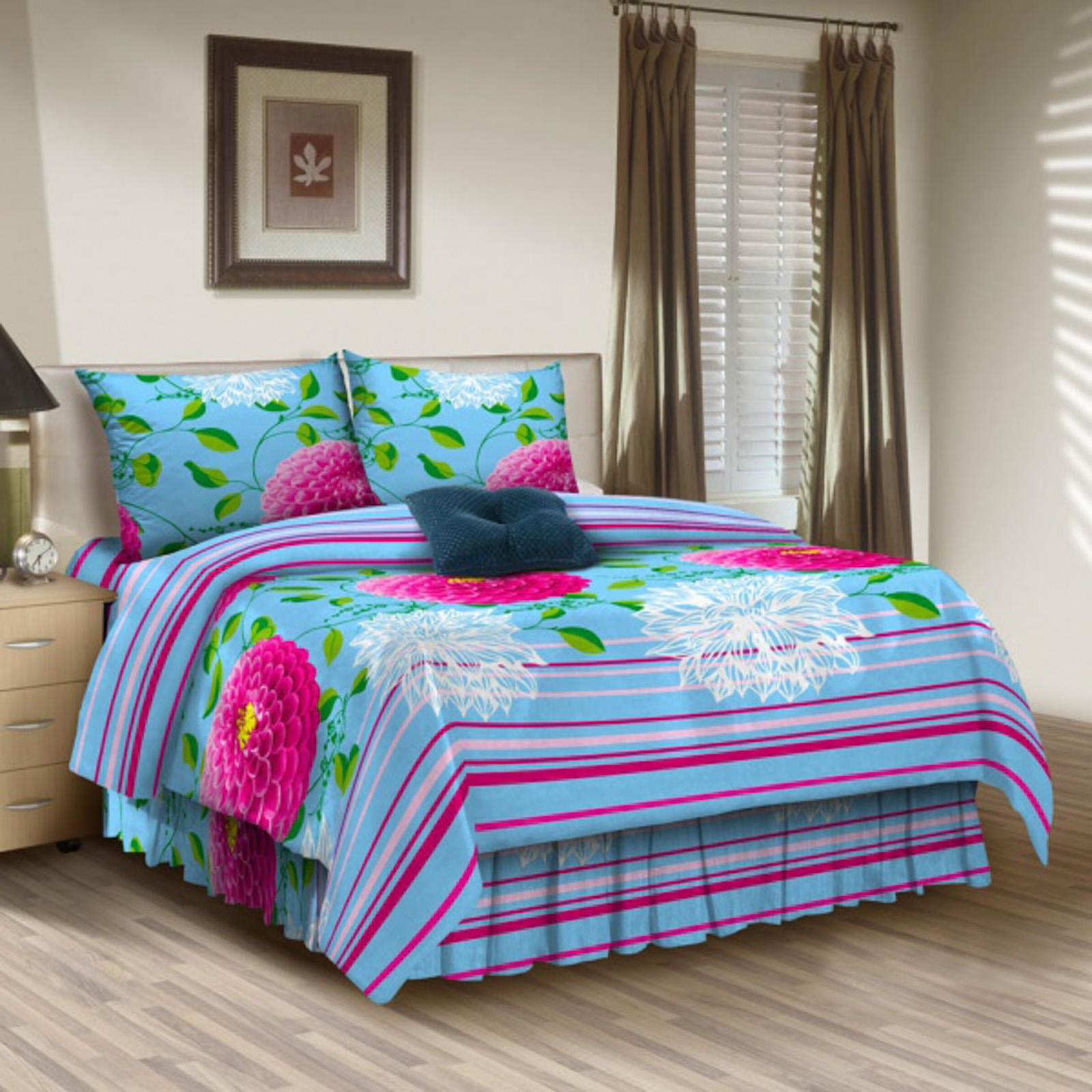 Комплект постельного белья «Малиновые георгины»