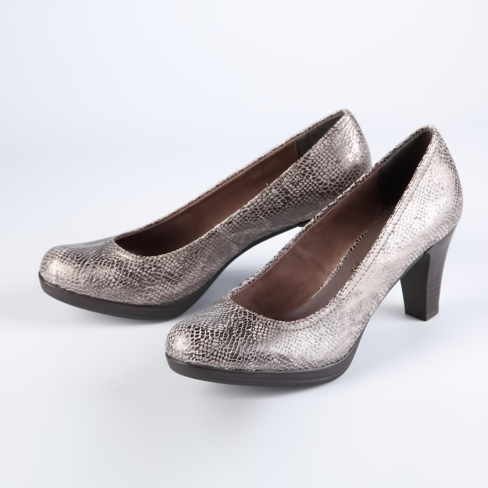Туфли женские декорированные стильным тиснением