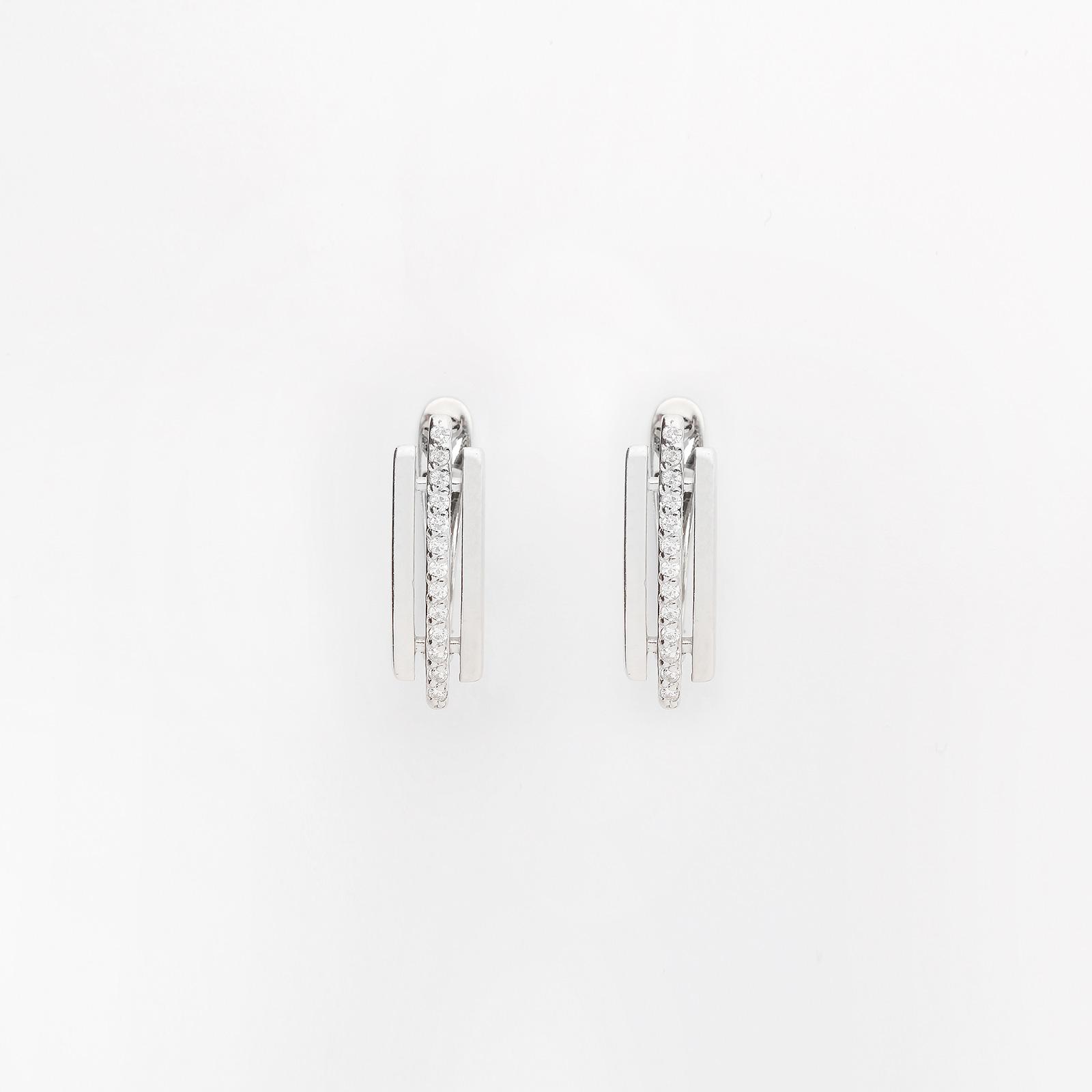 Серебряные серьги «Таун»