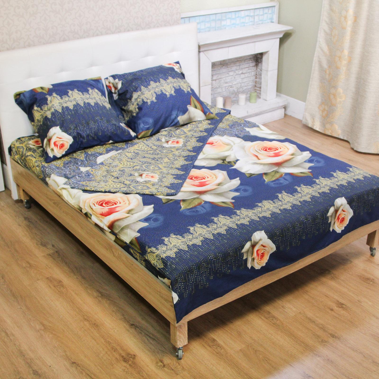 Комплект постельного белья «Сапфировая роза»