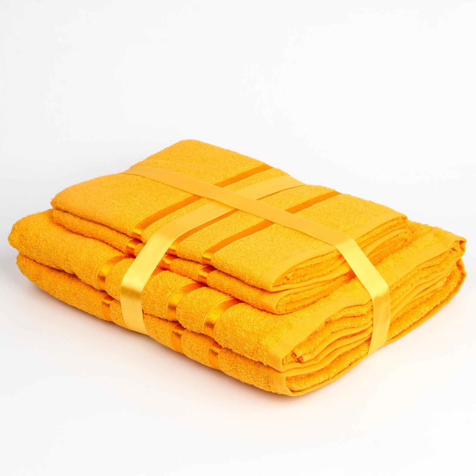 Комплект махровых полотенец «Краски лета»