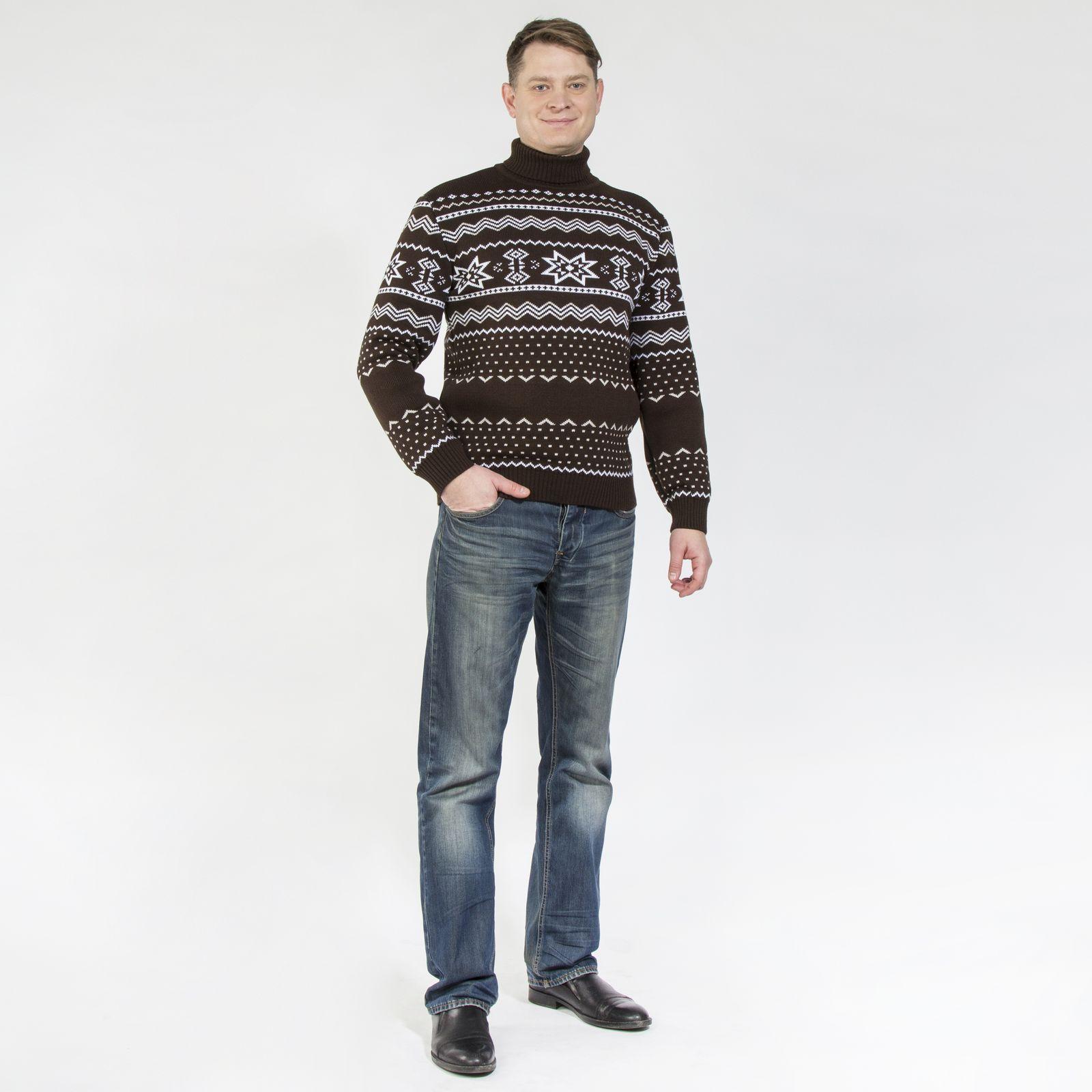 Джемпер со скандинавским узором