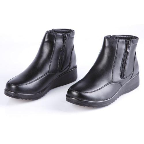 Ботинки женские на утолщенной подошве с функциональной молнией