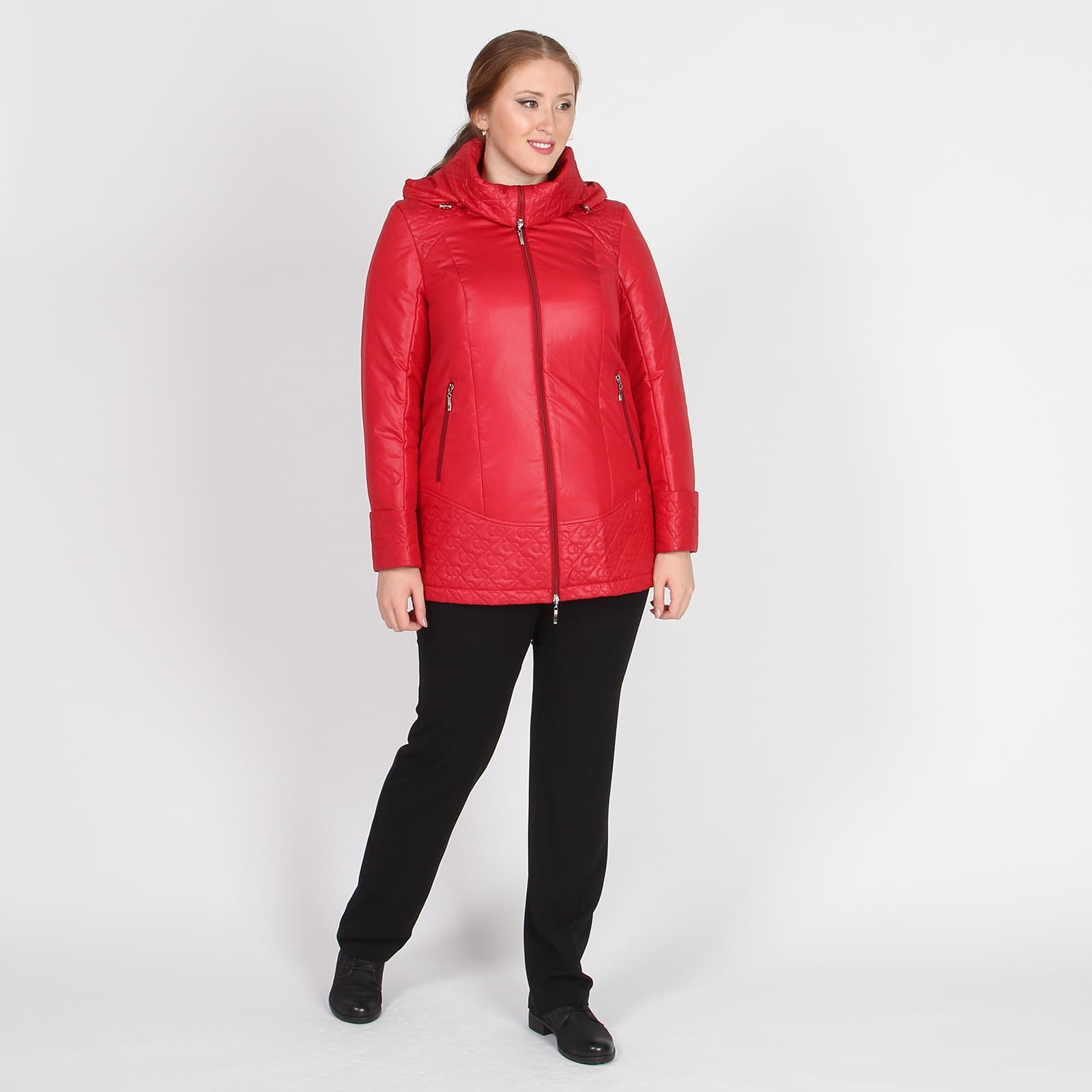 Куртка удлиненная со стеганными элементами