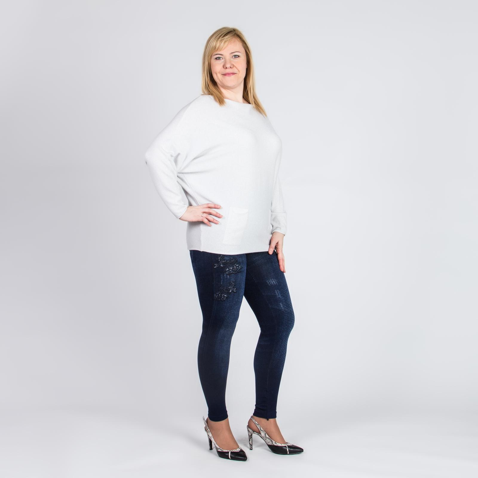 Леггинсы под джинсу с цветочными узорами