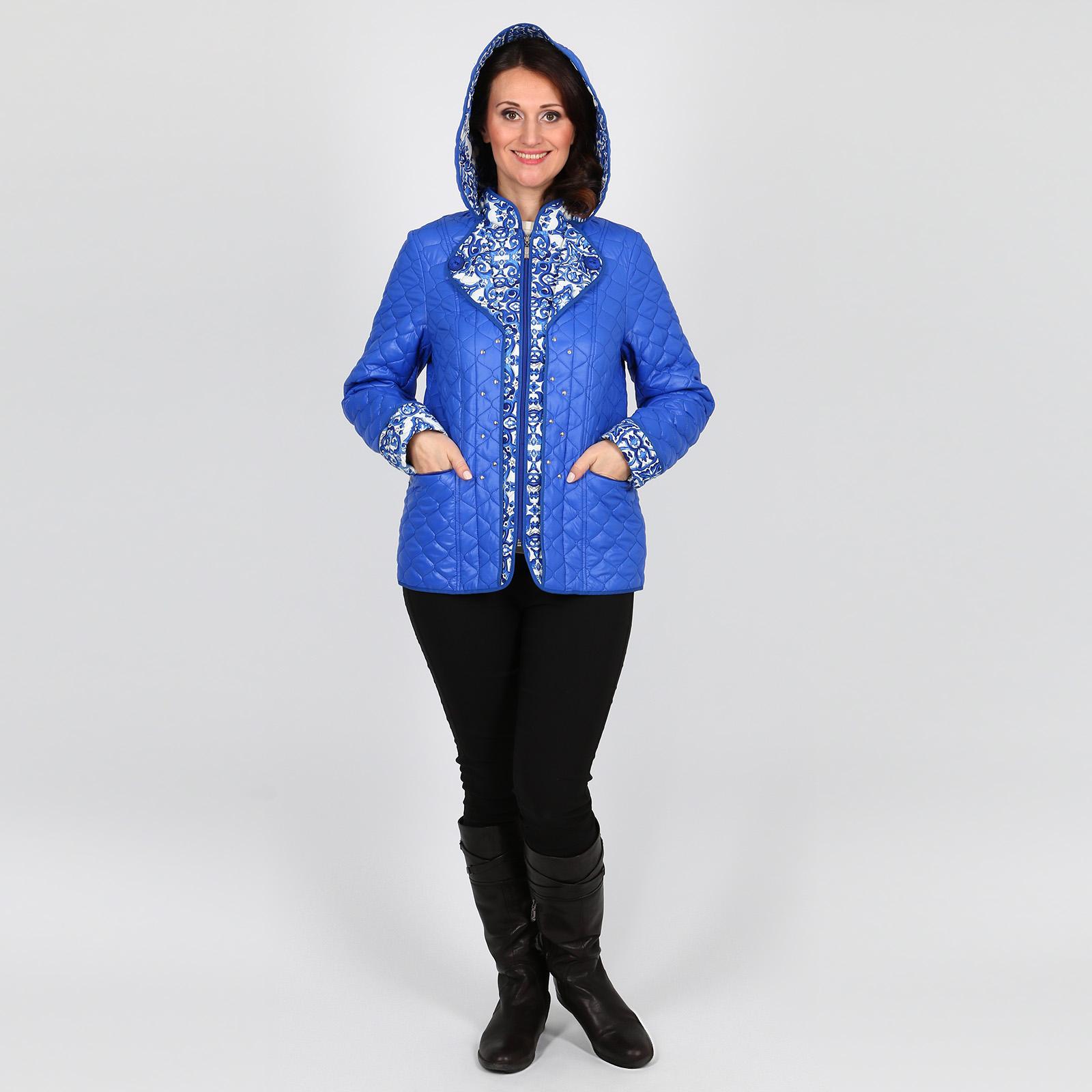 Куртка с контрастными отворотами