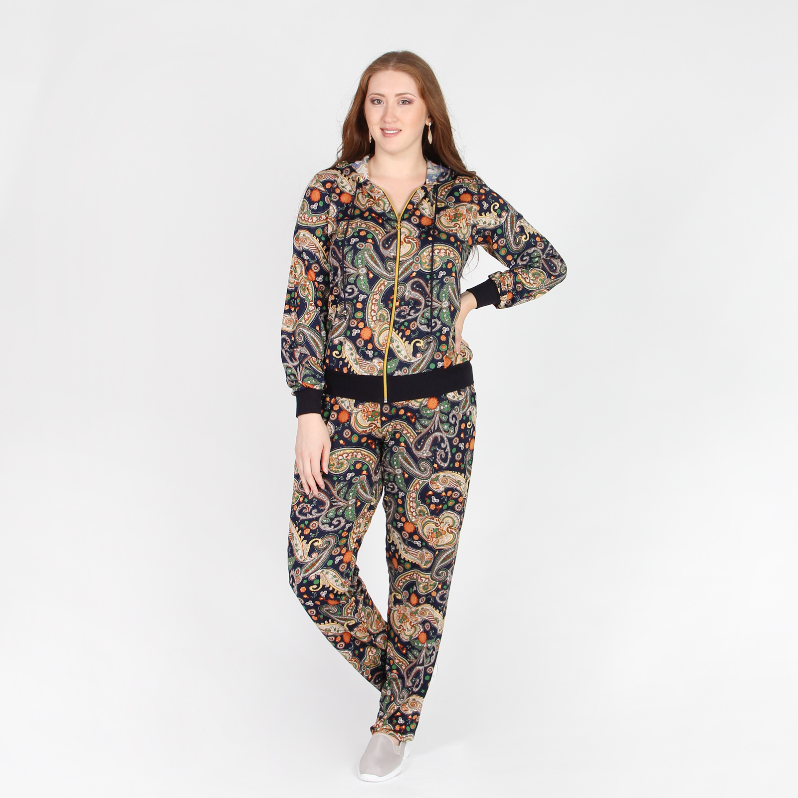 Костюм: куртка и брюки с принтом «Пейсли»