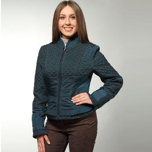 Куртка из стеганой ткани с рюшем из ткани гофре