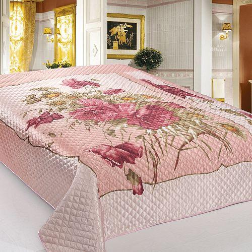 Покрывало «Маки на розовом»