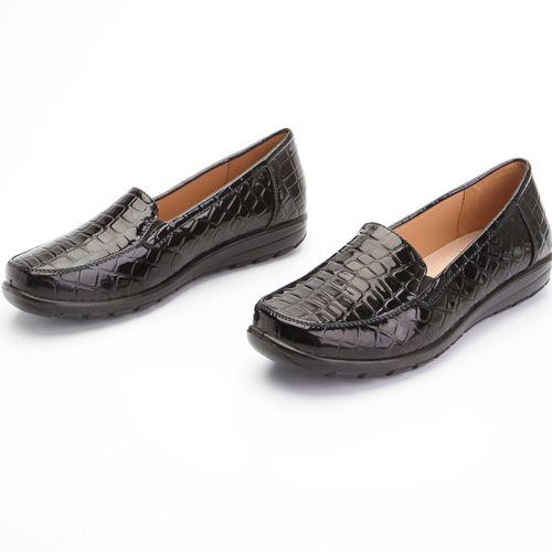 Туфли женские лакированные с тиснением под «рептилию»