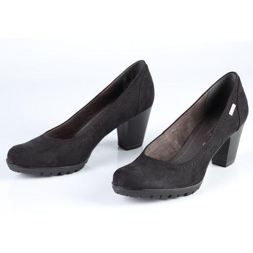 Женские туфли на рифленой подошве и каблуке