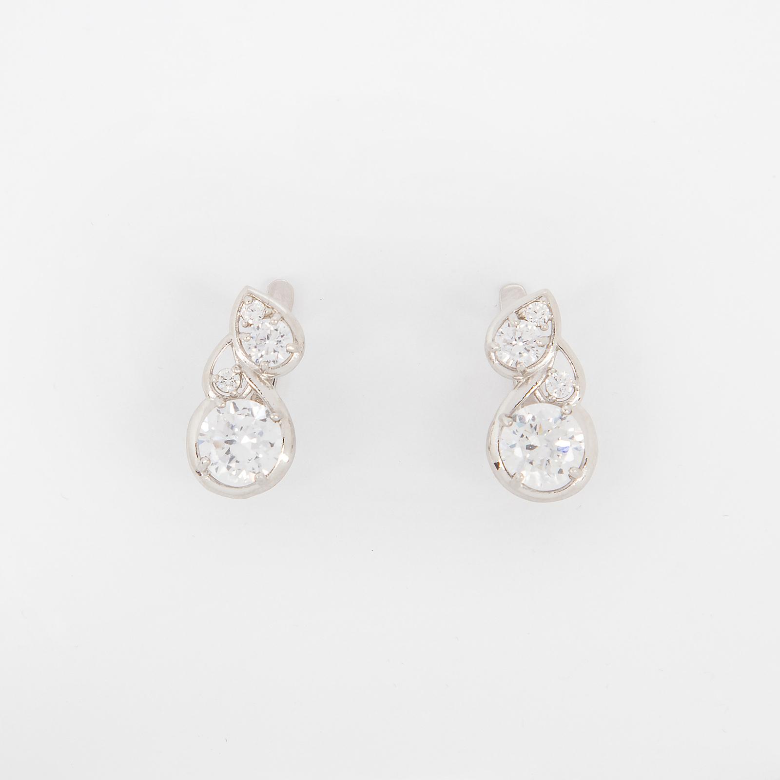 Серебряные серьги «Весенние капли»