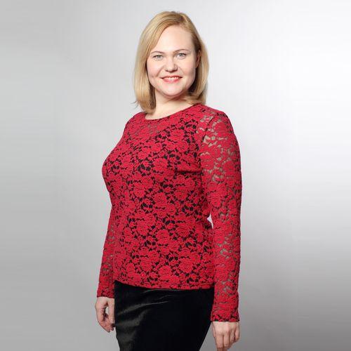 Комплект «Ажурные розы»: блуза и топ