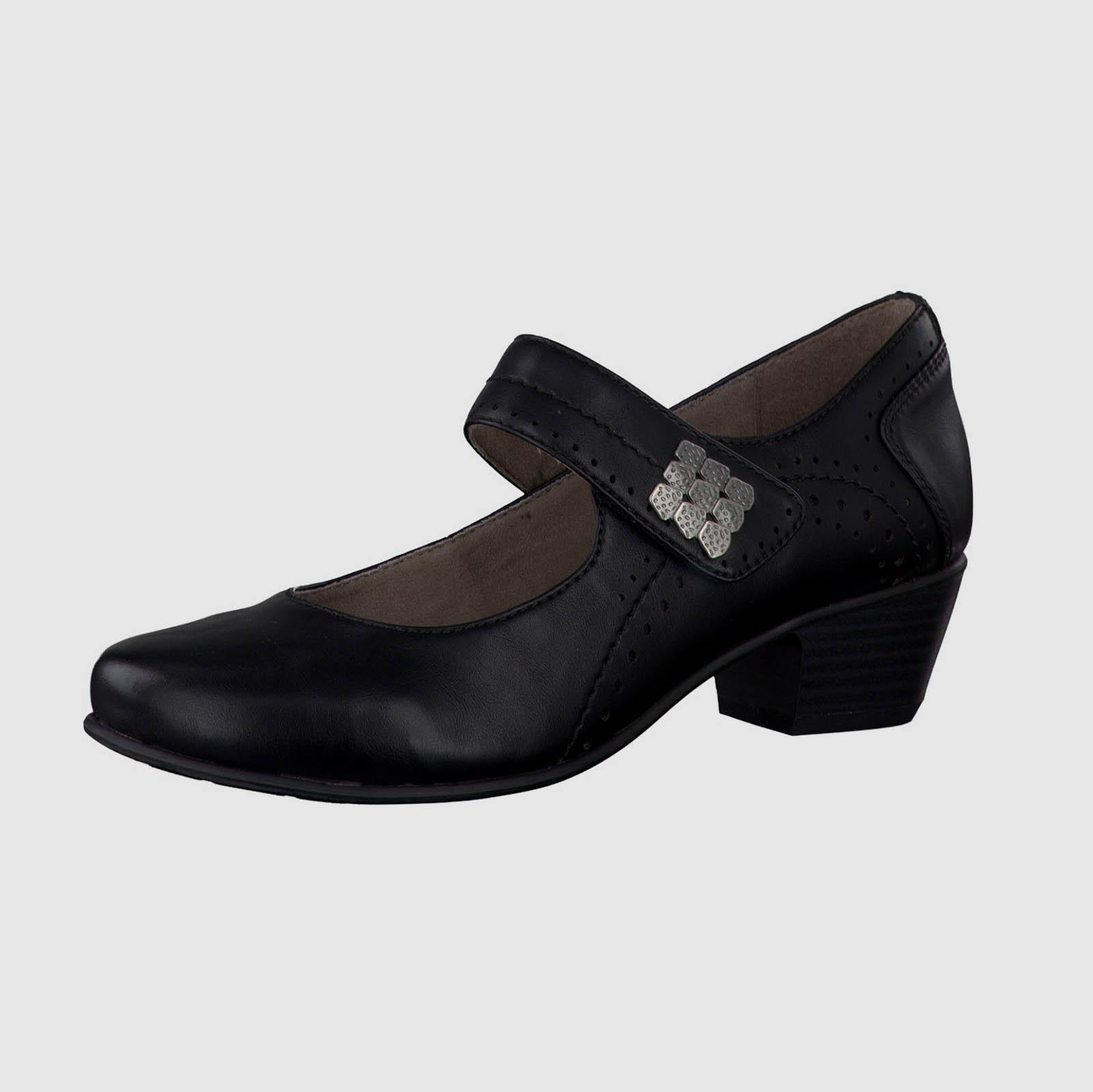 Туфли на ремешке с декоративной перфорацией
