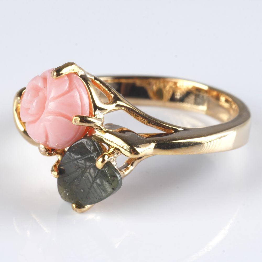 Кольцо «Чайная роза»
