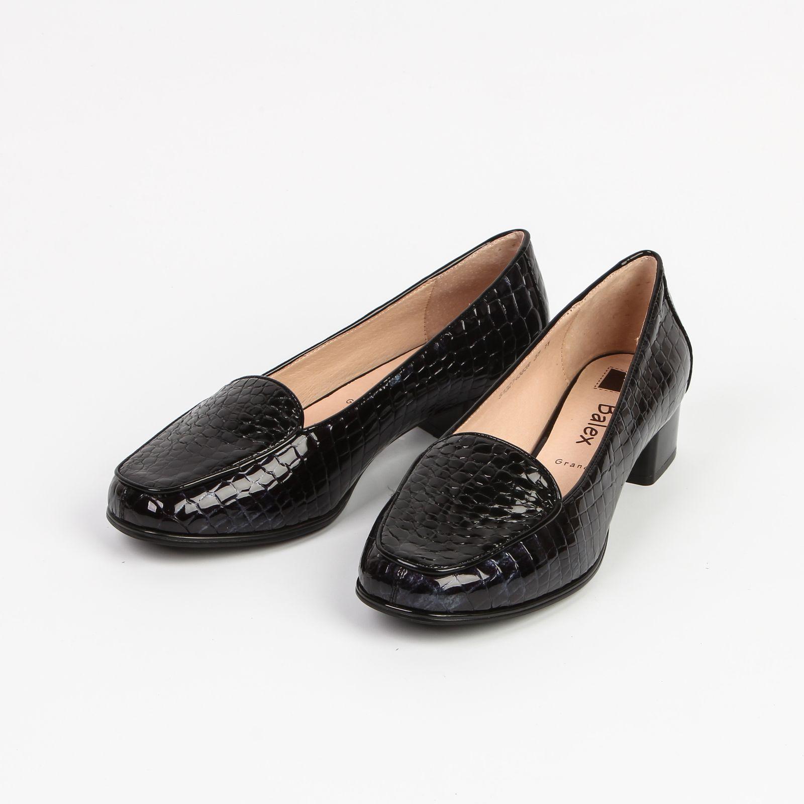 Туфли женские лакированные под рептилию