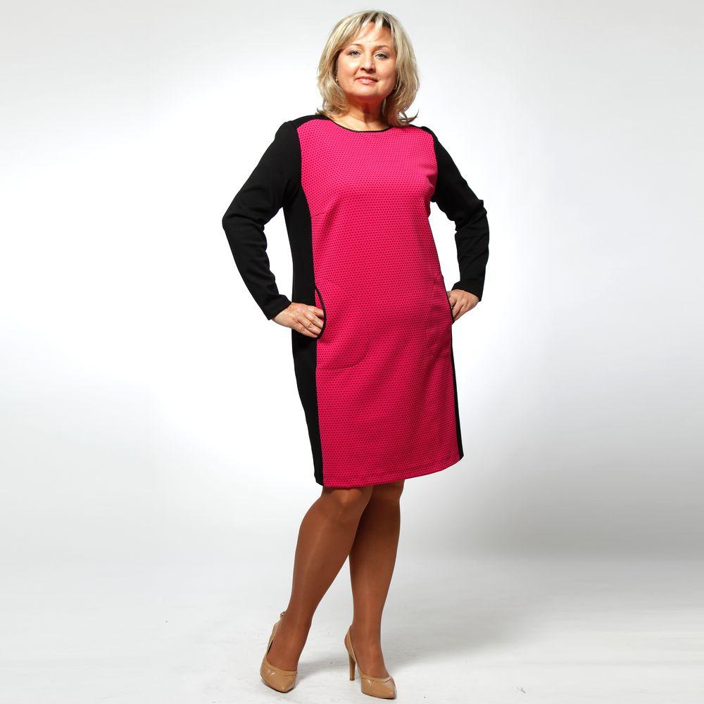 Платье-миди с цветными фактурными вставками виброплатформы для похудения в алматы в интернет магазине