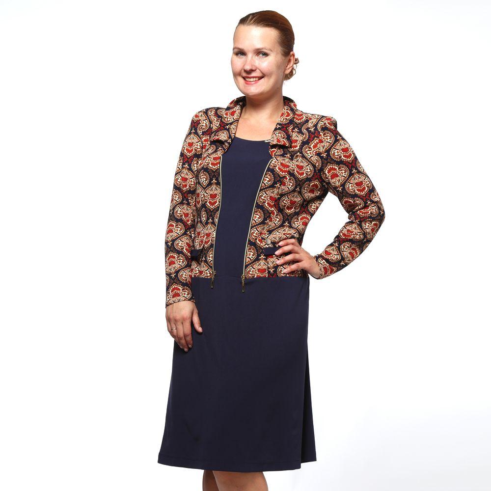 Платье-миди с имитацией жакета виброплатформы для похудения в алматы в интернет магазине