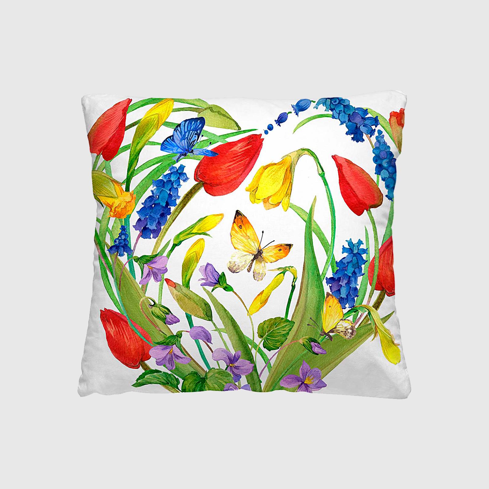 Комплект из 2-х декоративных подушек «Тюльпановый сад»