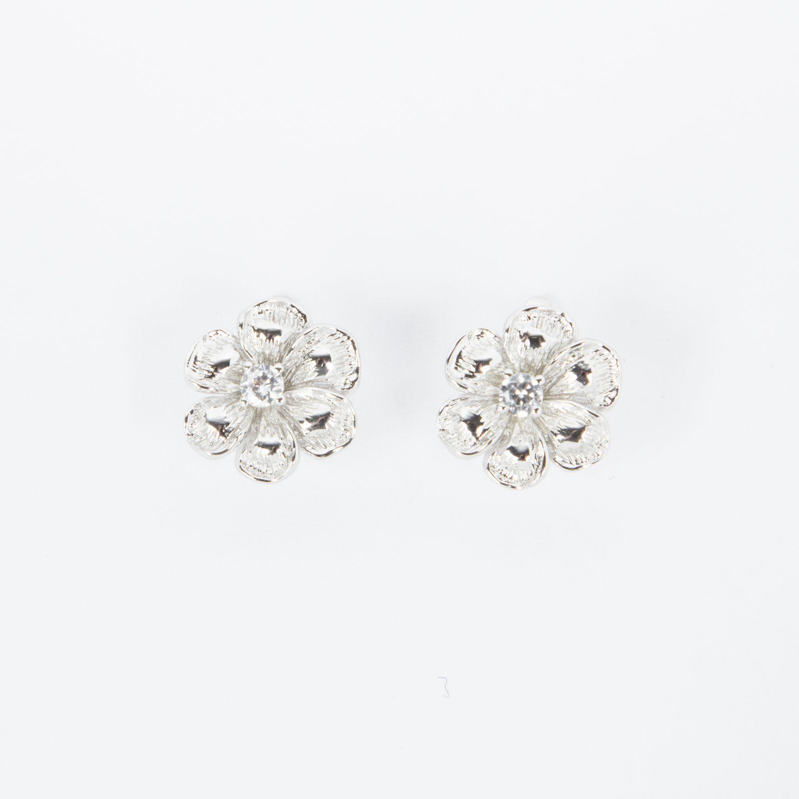 Серьги «Серебряная ромашка»