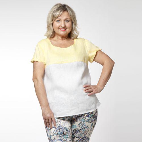 Блуза льняная с эффектом «меланж»