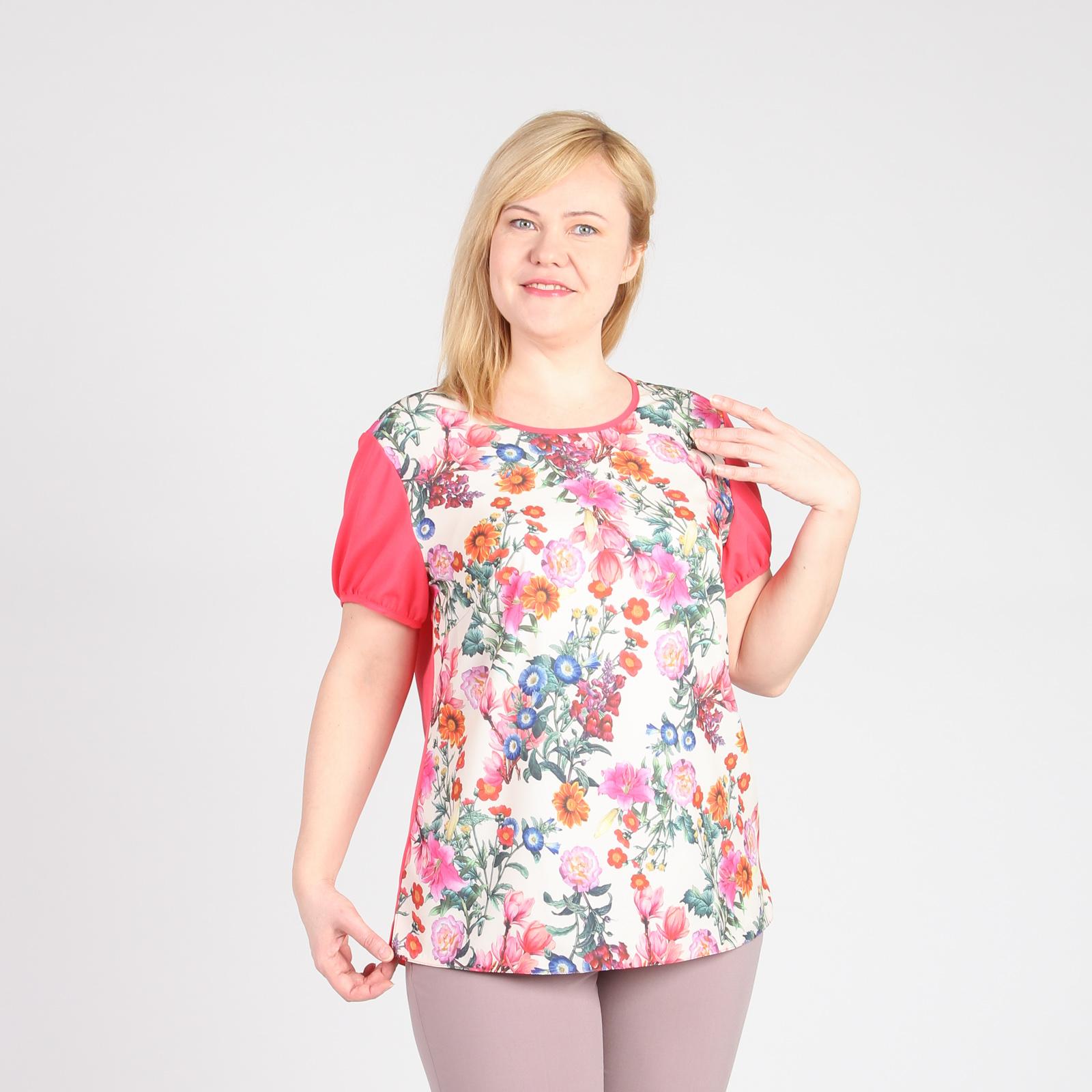 Блуза свободного кроя с цветочным принтом рубашка gerry weber gerry weber ge002ewwra96