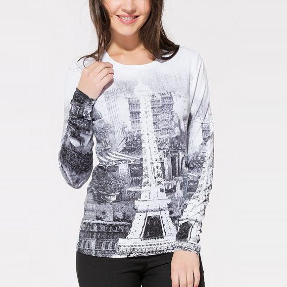 Джемпер с принтом «Париж»