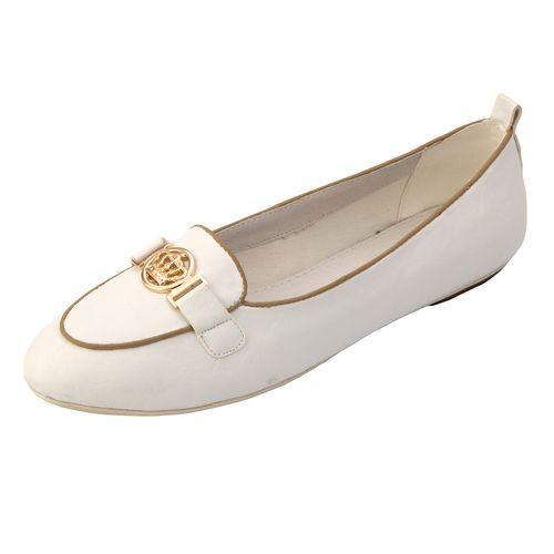 Женские туфли с золотым принтом