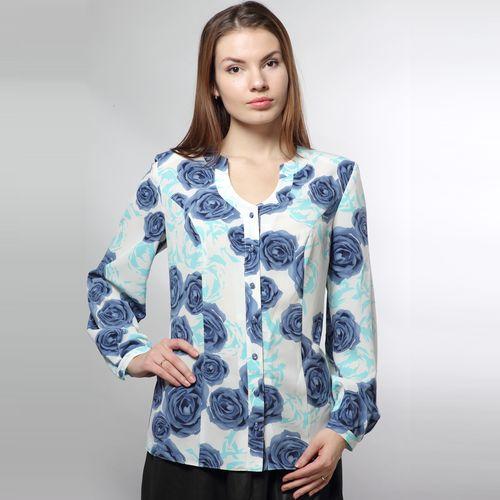Блуза с принтом «розы»