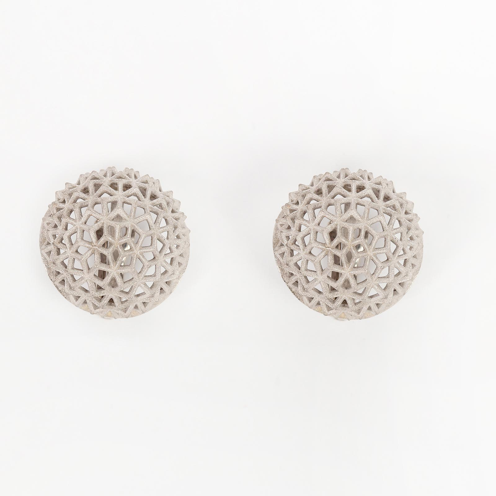 Серебряные серьги «Мраморная роза»