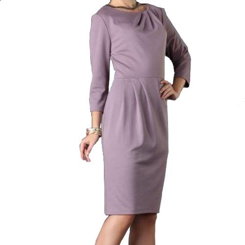 Платье со сборкой на воротнике