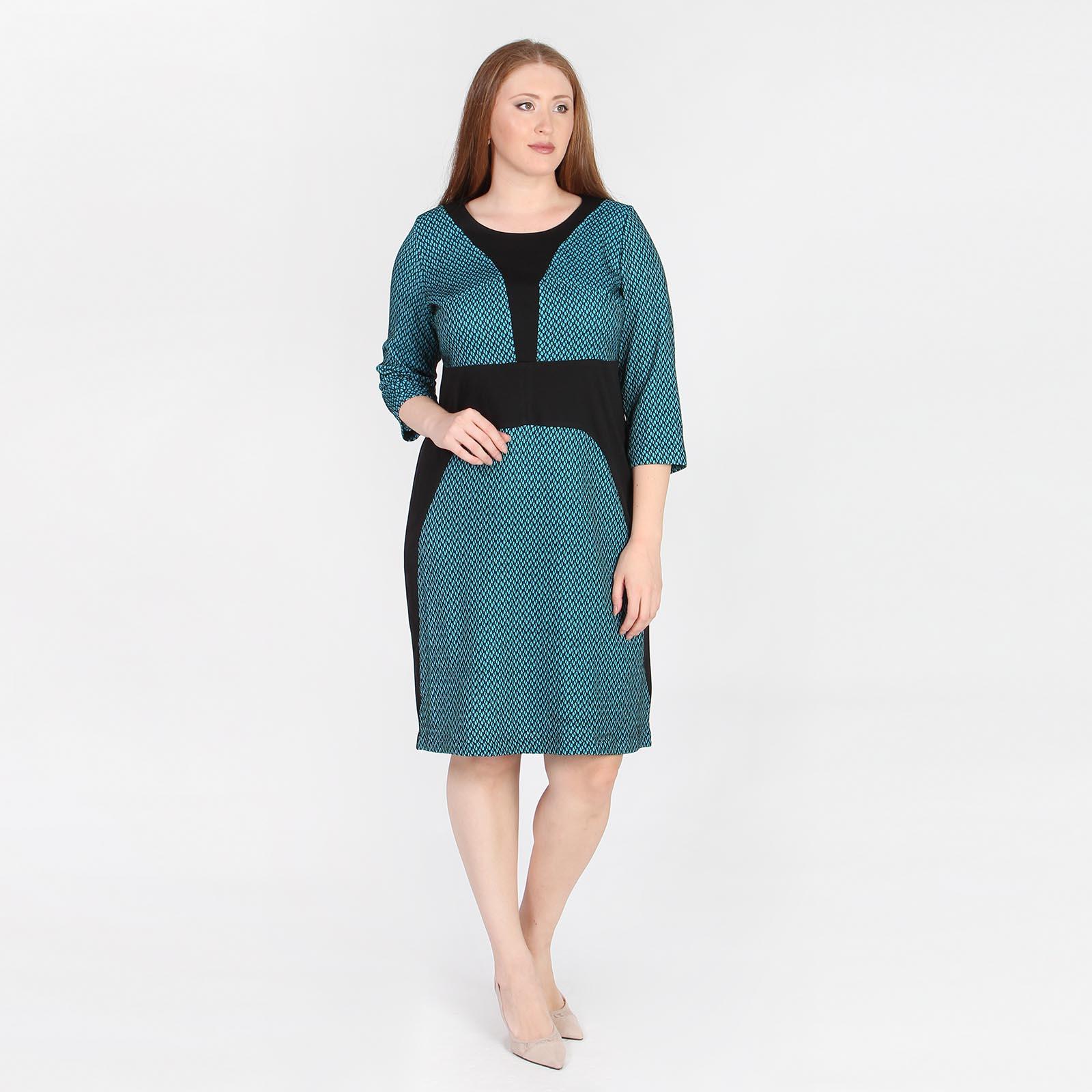Платье с фактурным узором