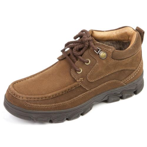 Мужские ботинки на рельефной подошве