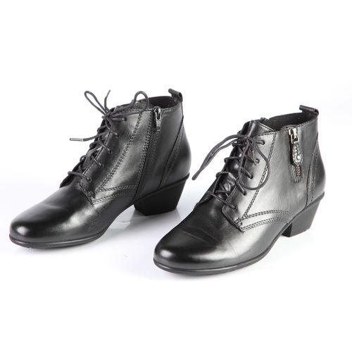Ботинки женские из натуральной кожи на шнуровке и молнии