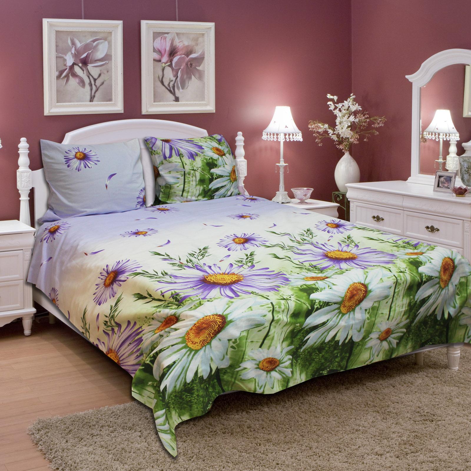 Комплект постельного белья «Лиловая ромашка»