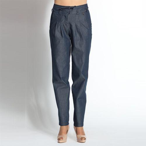 Свободные брюки из натурального хлопка