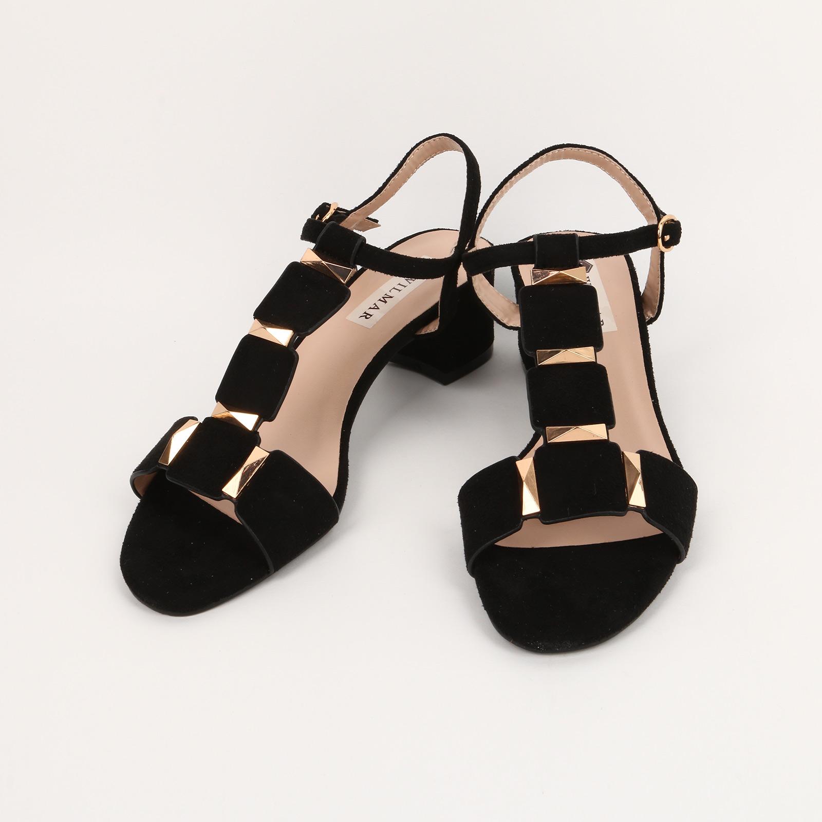 Туфли женские с вставками на ремешке