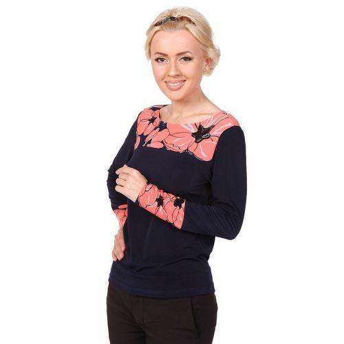 Блуза с оригинальным принтом на груди и манжетах