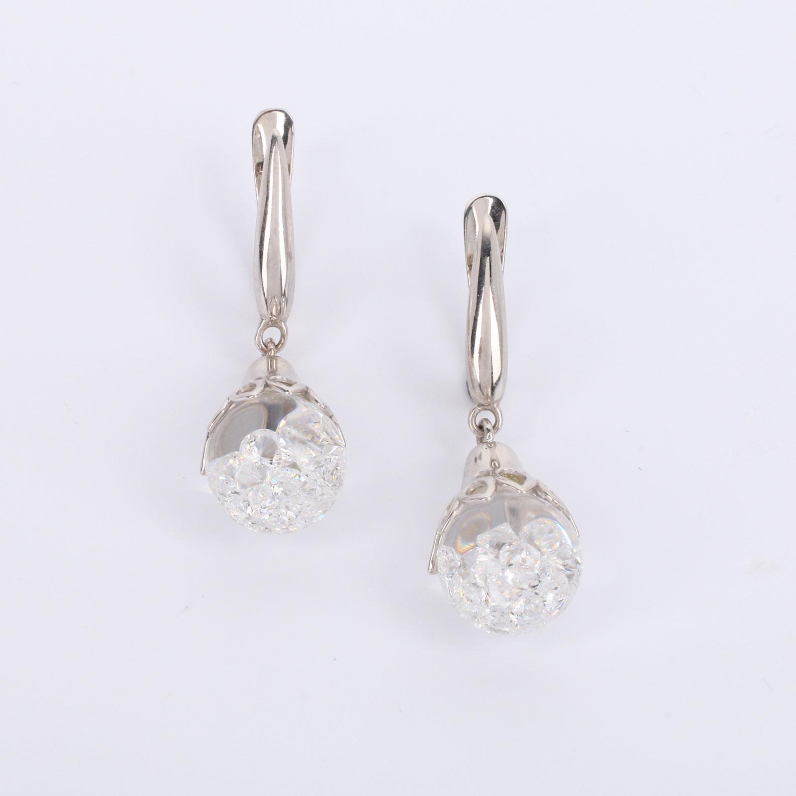 Серебряные серьги Нежность бутона серьги с подвесками эстет серебряные серьги с куб циркониями и пластиком est01с2510678 10z