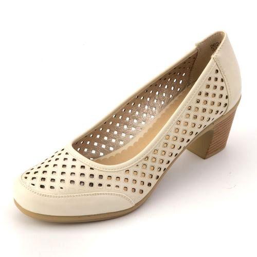 Туфли с крупной перфорацией