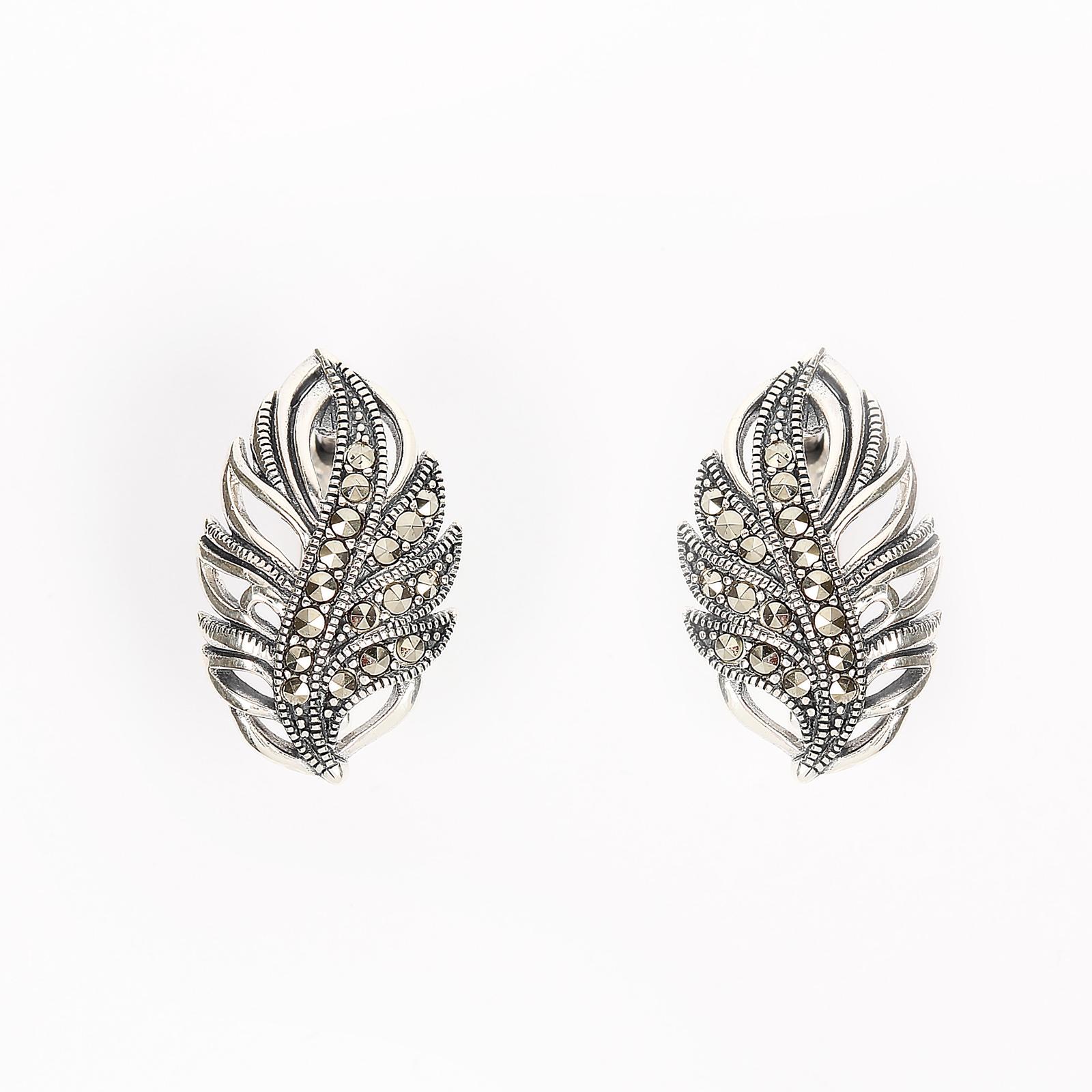 Серебряные серьги «Опавший лист»
