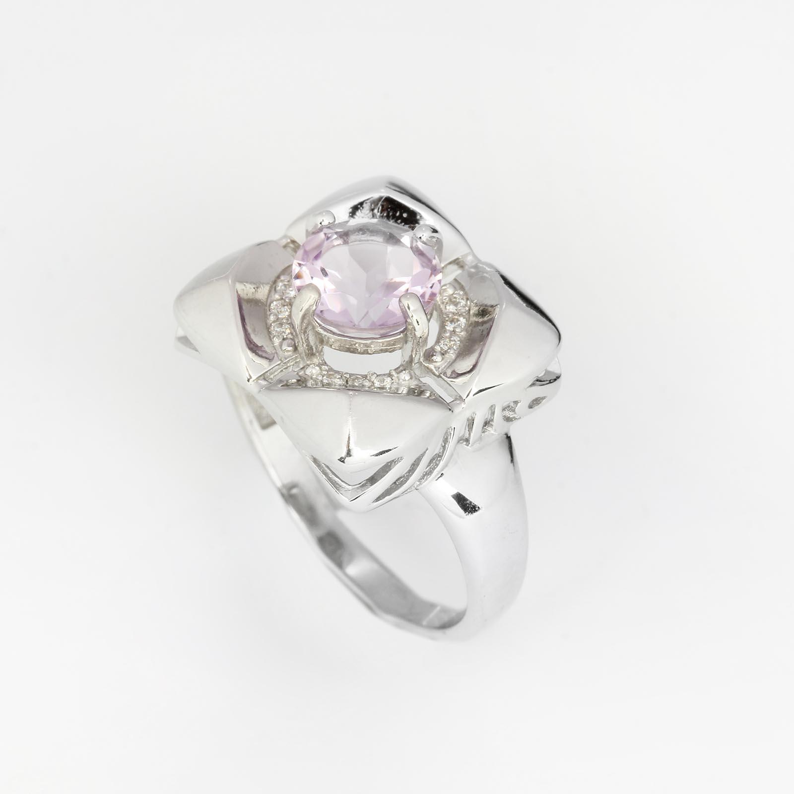 Серебряное кольцо  «Таинство аметиста»