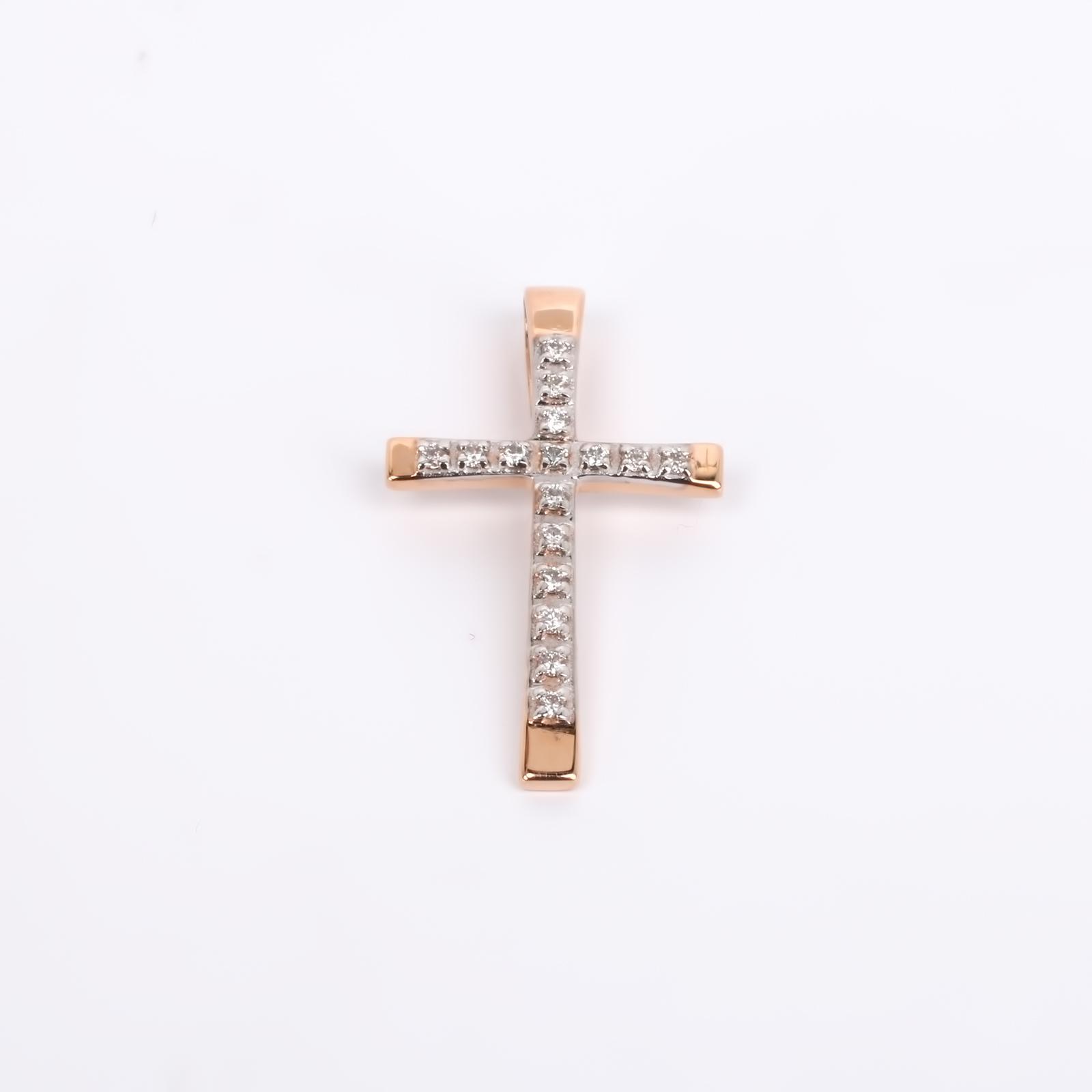 """Крест из золота """"Блеск роскоши"""""""