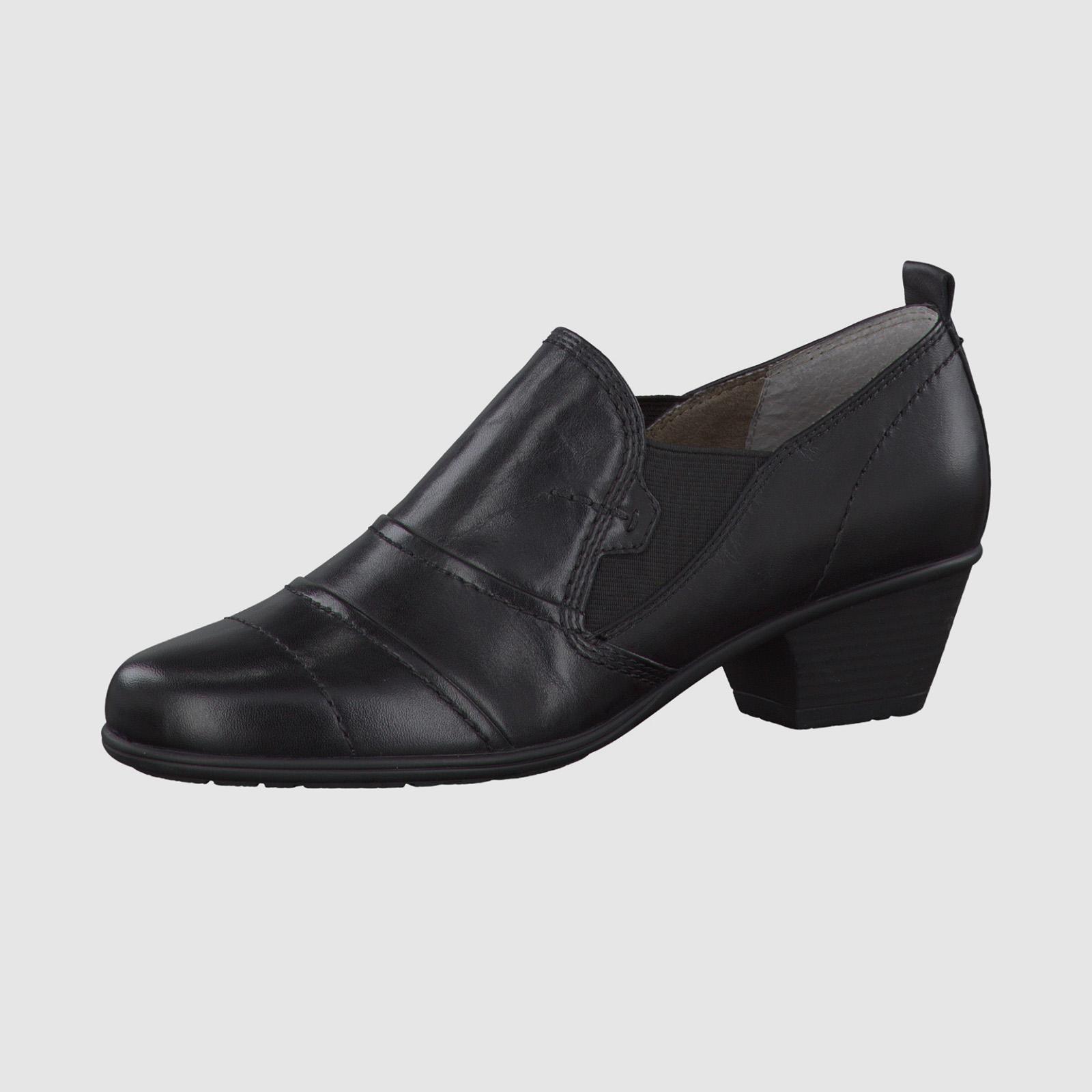 Туфли женские закрытые с эластичной вставкой
