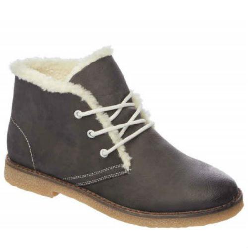 Женские зимние ботинки со шнуровкой